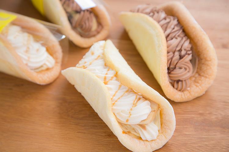 ホノルルバナナはチョコレートとカスタード味がある。各$3.50。