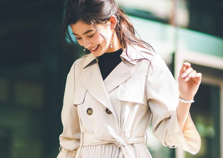 通勤に使えるトレンドアイテム♡上手な選び方と着こなし術、変形トレンチコート3選