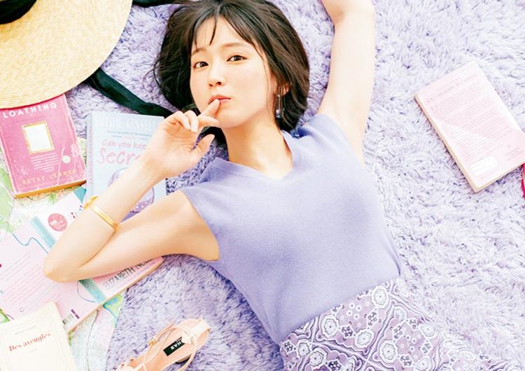 吉岡里帆が着こなす夏のラベンダーコーデ4選♡爽やかで大人可愛い新鮮スタイル+α