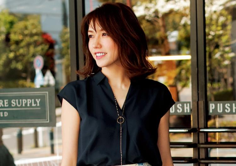 【毎日コーデ】ユニクロのスキッパーシャツ×花柄スカート!大人の爽やかエレガントコーデ