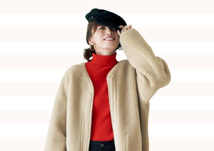 【毎日コーデ】ほっこりボアコートを女らしく。キレイめカジュアルの素敵コーデ