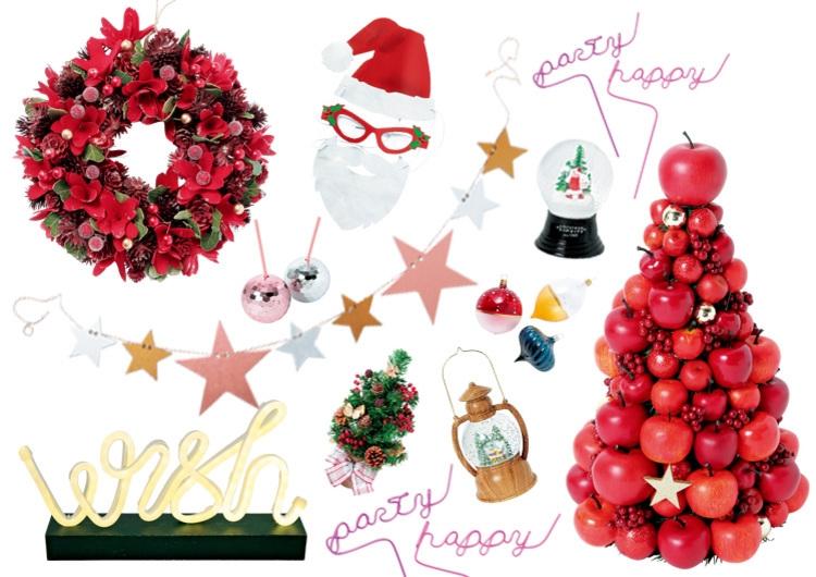 クリスマスが盛り上がる!王道の赤、インスタで映えるクリスマスグッス15選