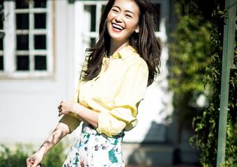 仕事にもデートにも使える花柄♡知的シャツを合わせる、大人の華やかスカートコーデ