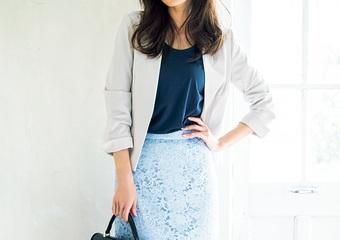 上品で女っぽい〝レーススカート〟♡キレイめニュアンスで清潔感ある通勤コーデ