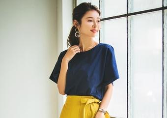 【毎日コーデ】ユニクロTシャツと通販ブランド〝フィフス〟で大人可愛い通勤コーデ