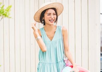 【毎日コーデ】お値段以上の通販ブランド〝バースデーバッシュ〟鮮やか海の日コーデ
