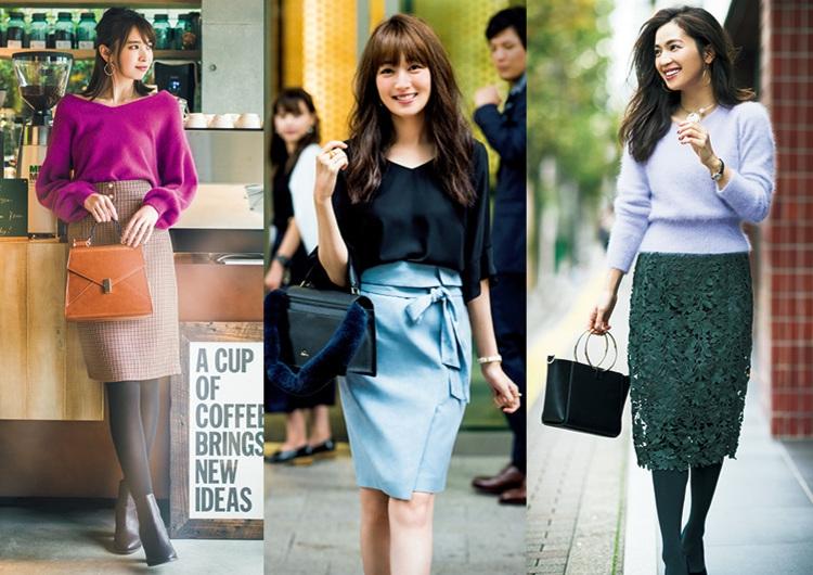 デキる女風!秋冬コーデおすすめ14選♡種類別タイトスカート最新スタイルまとめ