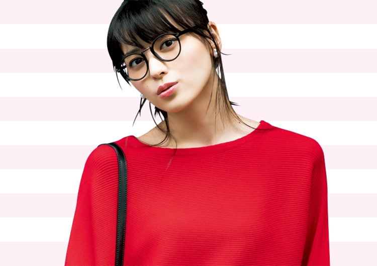 2回目デートは赤のニットでギャップ魅せ♡スキニーデニムとつくる正解モテコーデ
