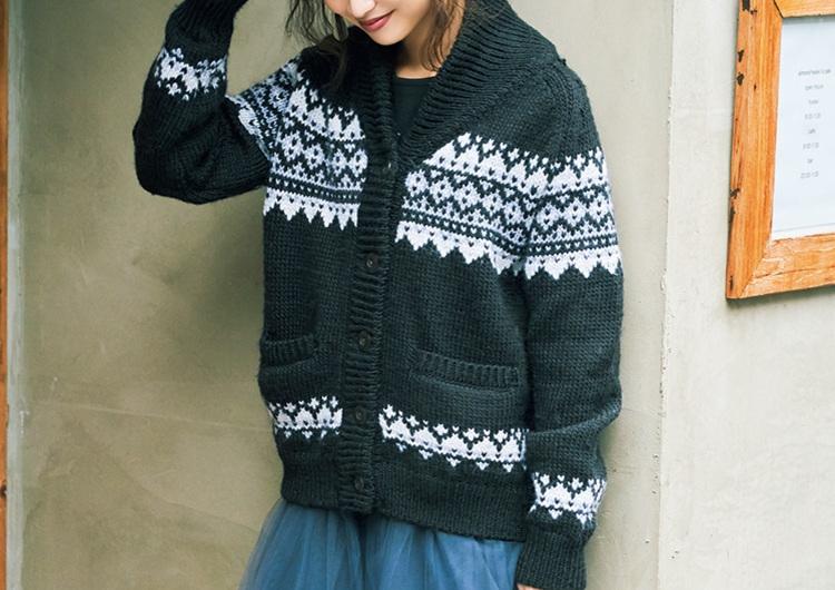 GUのノルディック柄ニットは高見えで超使える♡チュールスカートと作る休日コーデ