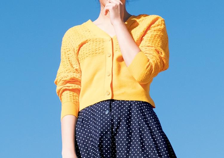 ユニクロの絶対買いたい最新色柄アイテム♡カーデ×スカートで作る華やか休日コーデ