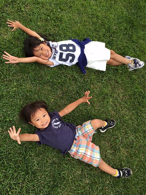 写真投稿:「娘の心暖5歳と息子の瑛斗3歳です」(彩・27歳)
