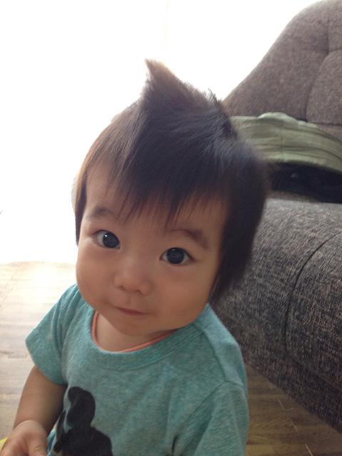 写真投稿:「息子のりく1歳です」(さくら・28歳)