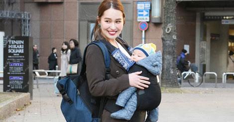 岩崎聖さん 22歳 美容師(♂4カ月のママ)