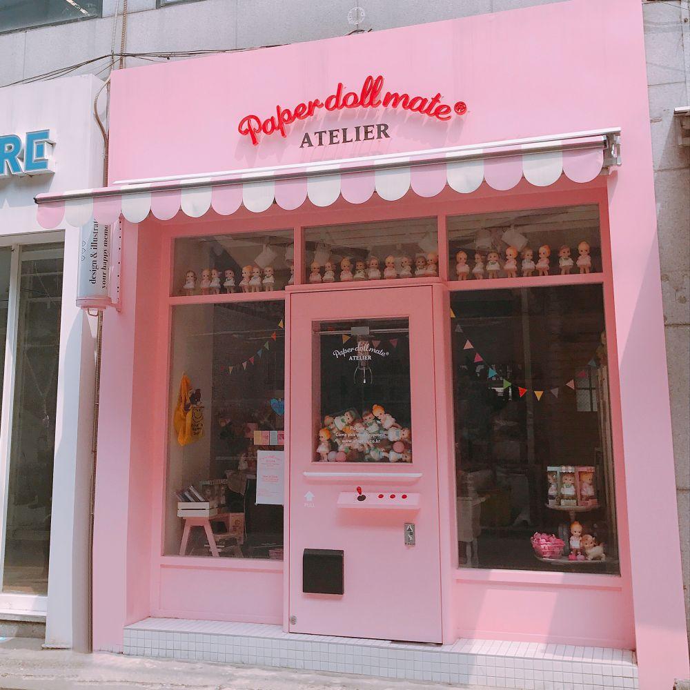 SNS映え抜群!めちゃかわいいピンクの雑貨店!Paper doll mate ATELIER
