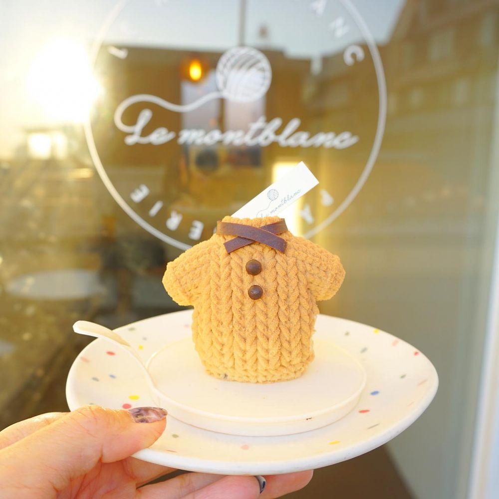 毛糸玉ケーキでおなじみ!梨泰院(イテウォン)エリアのカフェ「Le montblanc(ルモンブラン)」の新作ケーキはTシャツ!?