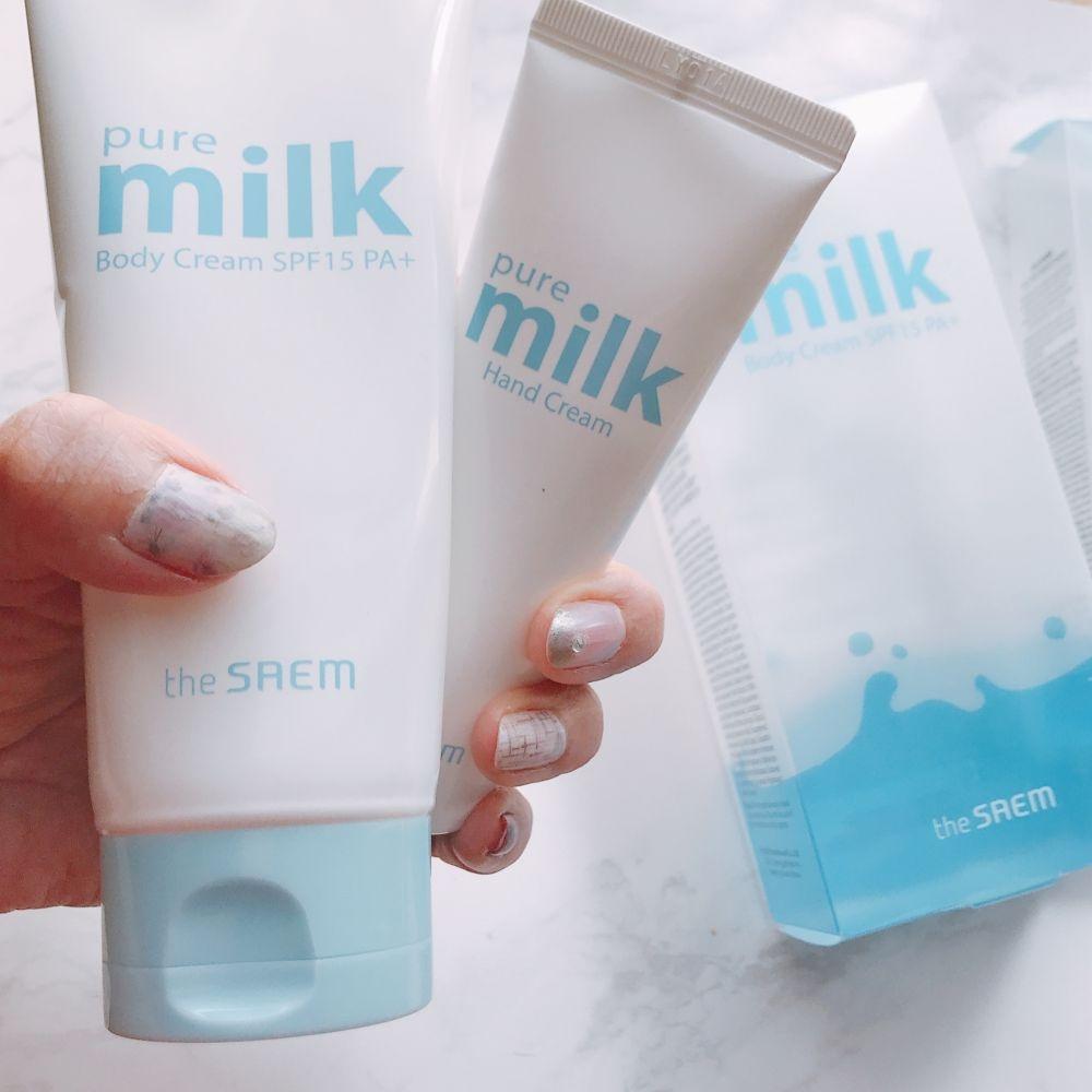 韓国コスメ「the SAEM(ザセム)」の新商品!「Pure MILK(ピュアミルク)」シリーズのボディクリーム&ハンドクリームを徹底レビュー!♡