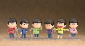 遂に松野兄弟全員が出揃った。並べてディスプレイすると壮観そのもの。